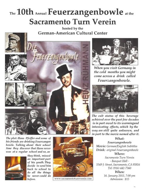 Feuerzangenbowle @ Sacramento Turn Verein | Sacramento | California | United States